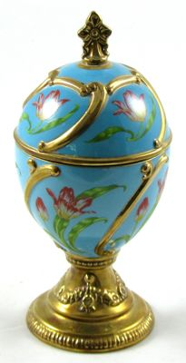 House of Faberge blue musical Egg