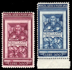 Vatican City 1951 - 'Graziano' Airmail complete series - Sass.  N°  A20/21