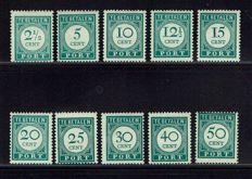 "Curaçao 1943/1948 - A few complete series, including ""Back of the Book"""