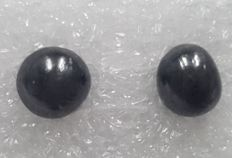Cts. 3.42, A Couple of Diamond Pearls (Semi Round), AIG Certified, Black, Very Unique