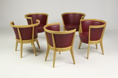 "Jacob Berg for Scou Andersen - Set of 5 chairs, model ""Circle"""