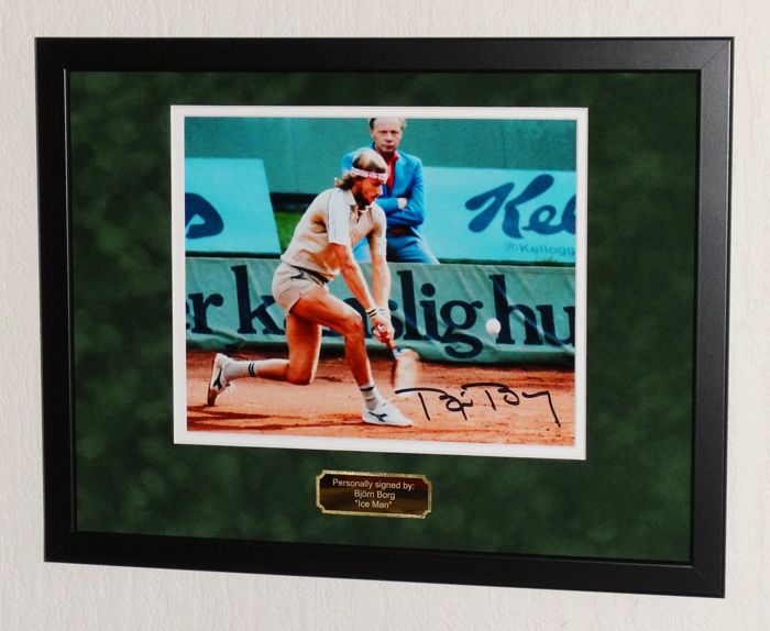 Bjorn Borg original signed Photo - Premium Framed + Certificate of Authenticity