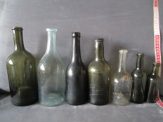 Seven various bottles, 18th/19th century