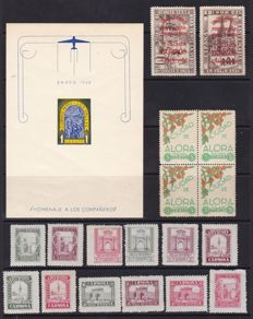 Spain 1936/1939 - Collection of more than 300 stamps, sheets and blocks from the Civil War