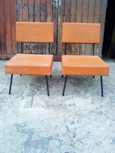 Florence Knoll - pair of low chairs
