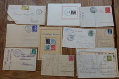 Germany 1890s/1940s - Small collection postal items, including a lot from the Reich with better material