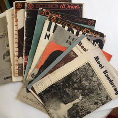 Indonesia; Mooi Bandoeng 1936 Nos. 1-4 + 6 other Indies public magazines - 10 volumes - 1934 / 1946