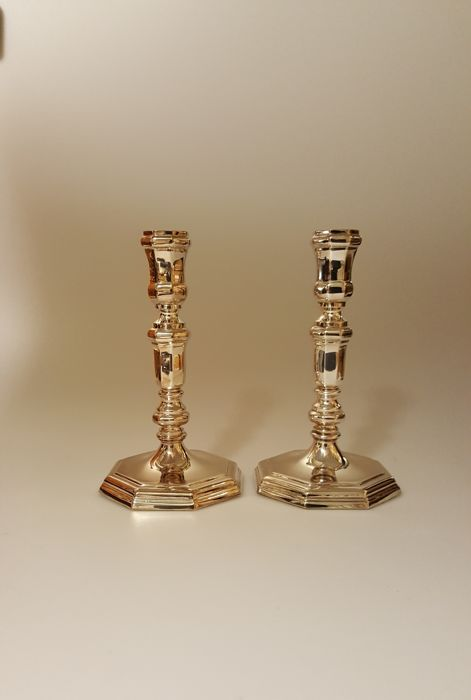Set of silver candle sticks - D.J Aubert, The Hague - The Netherlands - 2004