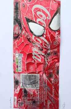 Original Artwork By Chris Duncan - Spiderman on Coke Can - 2017