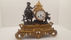 French pendulum romantic - Zamac - mantel clock - France - 2nd period 1800