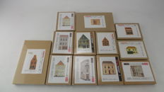 Artitec Scenery H0 - 10.233/231/239/195/192/193/212/235/234/240 - 12-piece set facades - all different houses and mansions
