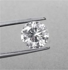 Round Cut  2.61 ct - D  Color - SI2 Clarity -  Loose Diamond  - IGL certified - Laser inscription -Original Image