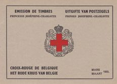 Belgium 1953 – Two stamp booklets Josephine-Charlotte – OBP 914 A/B