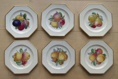Rosenthal, set of 6 dessert/fruit plates