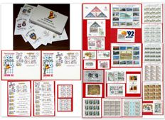 Spain - Set of FDC, sheets, series and miniature sheets.
