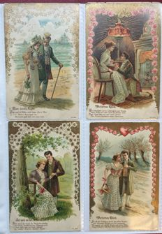 Lot consisting of 456 postcards Love / women - very beautiful collection - batch with 456 cards on the theme love / women