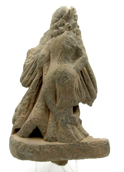 Ancient Gandhara Stone Statue of Deity ./ Goddess - 128x78mm