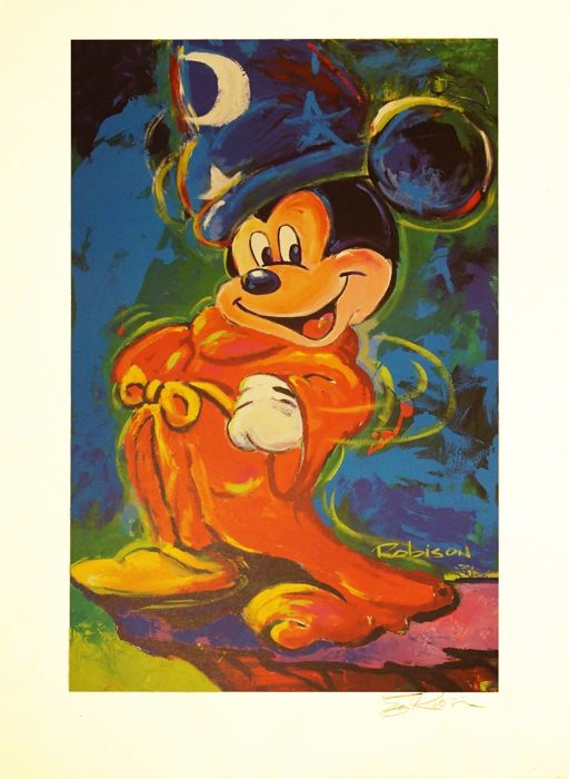 Robison, Eric - Llithograph - Mickey Mouse 'The Sorcerers's Apprentice' (1996)
