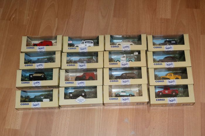 Corgi - Scale 1/43 - Lot with 16 models: Morris, Mini & Ford
