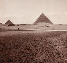 Paul Dittrich (1868-1939) - Landscape of the Pyramids of Giza, Egypt