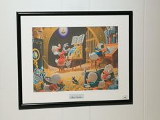 Barks, Carl - Scrooge McDuck 'Spoiling The Concert!' - Money-bin print with signature