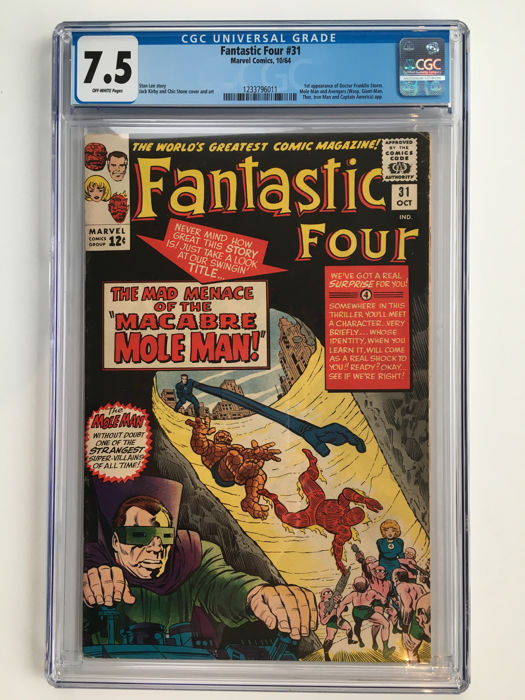 Marvel Comics - The Fantastic Four #31 - 1st Appearance of Dr Franklin Storm - CGC Graded 7.5 - High Grade - 1x sc - (1964)