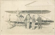 Aviation - Lot of 15 old postcards - Monoplane, biplane with a photo card of a biplane at the airfield of Sainte Maure