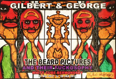 Gilbert & George - 3x The Beard Pictures and their Fuckosophy - 2017