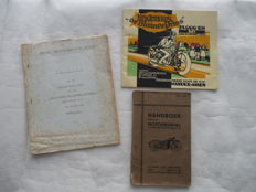 New Imperial - Motorrijwielen set of 3 - Original, old instruction book, advertising riding book and technical report - ca.1930