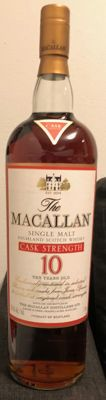 The Macallan- Cask Strength - 10 years old bottled in the late 1990s - OB