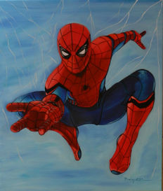 Brisan Gabriel - Original Oil Painting on Canvas - Spider-man - Anywhere