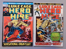 Marvel Comics - Luke Cage, Hero for Hire #1 + 2 - 2x sc - (1972)