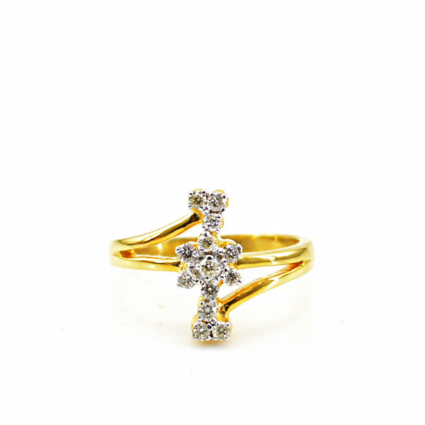 Designer 0.25 cts Diamond Ring VS2/ IJ -18k gold - All size available