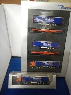 Herpa/Roco H0 - 1754 - Complete set with lorries, trailers and trailer carrier freight cars