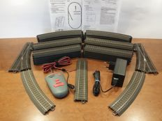 Märklin H0 - Complete C Track railway with switches, siding and digital infrared remote control with 18 VA power adapter and connecting rail