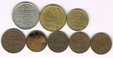 Danzig - Lot of 8 Various Coins.