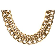 18 kt - Tiffany & Co. exclusive yellow gold double curb link necklace. The necklace weighs no less than 96.78 grams and it is 22 mm wide - Length: 40.6 cm