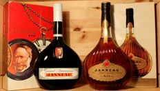 2 bottles from Janneau Armagnac: 1. Grand Armagnac Janneau, 40%vol, 70/75cl & 2. Janneau XO in original box 700ml, 40%vol.