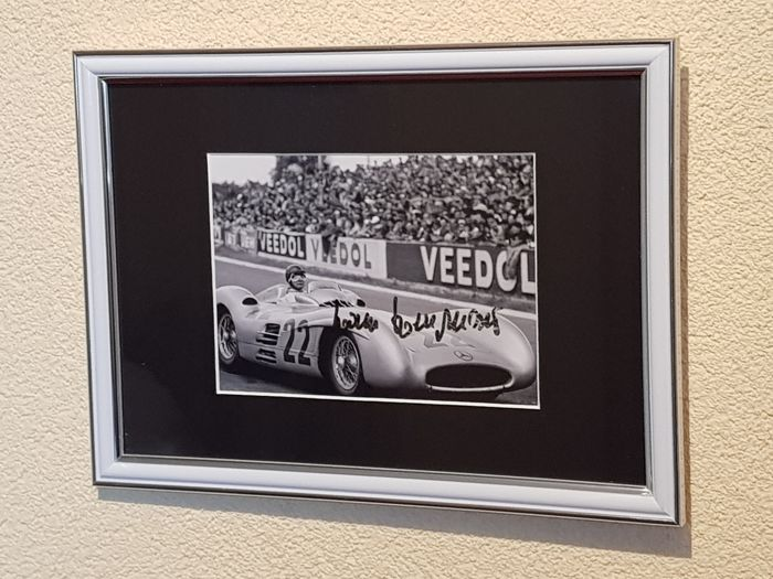 "Hans Herrmann - Mercedes Formula 1 ""Silberpfeil"" Legend - hand signed framed photo + COA."