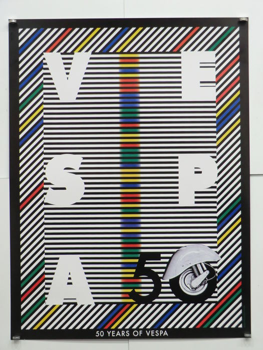 Milton Glaser - Vespa 50 - 50 years of Vespa - 1996
