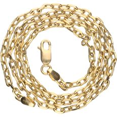 14 kt - Yellow gold, 2.5 mm wide anchor link necklace - Length: 45 cm