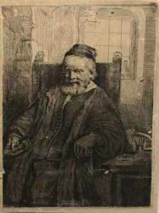 Rembrandt Harmensz. van Rijn, (1606-1669) - De goudsmid Jan Lutma - probably 1800-1900.