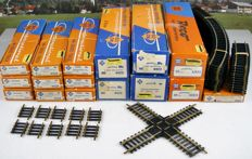 Roco H0 - Serie 4400 brass rails - 250 piece package with rails, crossings and adjustment pieces