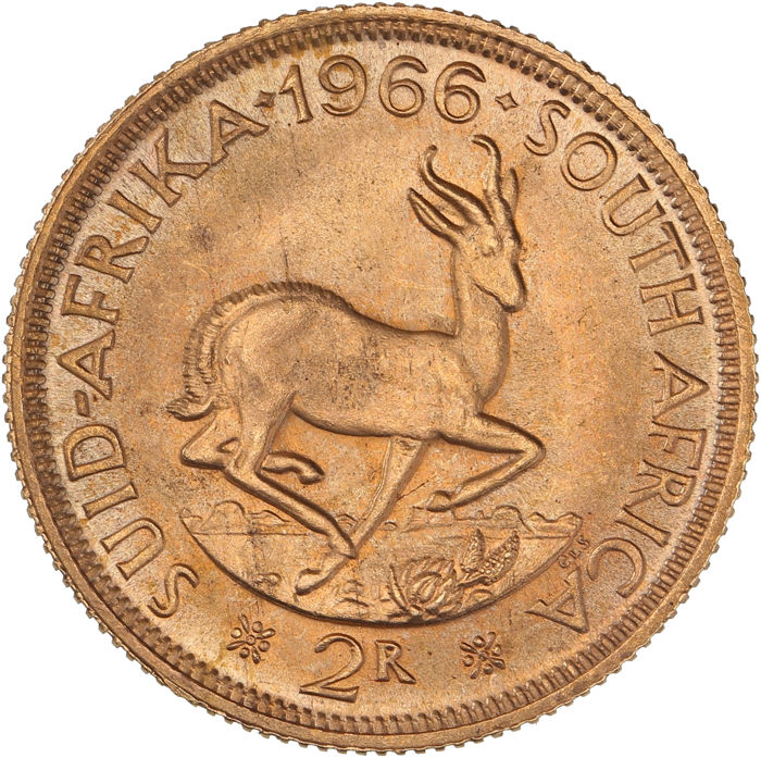 South Africa - 2 Rand 1966 - Gold