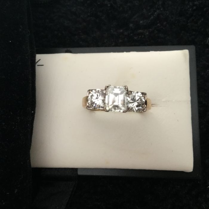 Ladies Trilogy Diamond Ring. Tcw.  1.58
