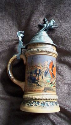 Regimental beer stein/ German award / 127 infantry regiment / battalion 3rd company