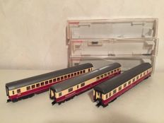 Fleischmann H0 - 5161/5163/5166 - 3 x express train passenger coaches of the DB