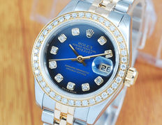 Rolex 179173 18K Gold & S/S Diamonds DateJust Women's Watch!