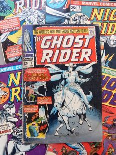 Marvel Comics - The Ghost Rider # 1 + 2 + Night Rider # 3 + 4 + 6 - 6x sc - (1967-1975)