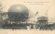 Balloon - Aviation - Aerospace - Lot of 3 old postcards Balloon in Neuilly sur Seine
